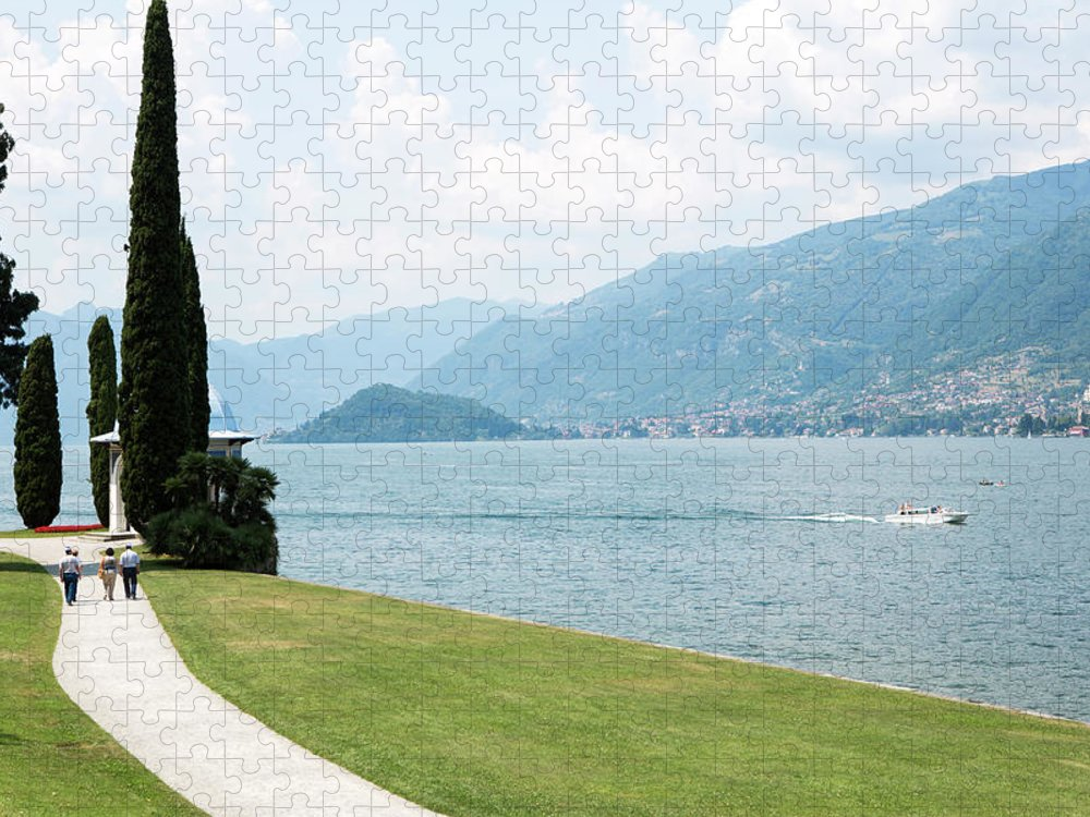 Tranquility Puzzle featuring the photograph Bellagio, Lake Como, Lombardy, Italy by Tim E White