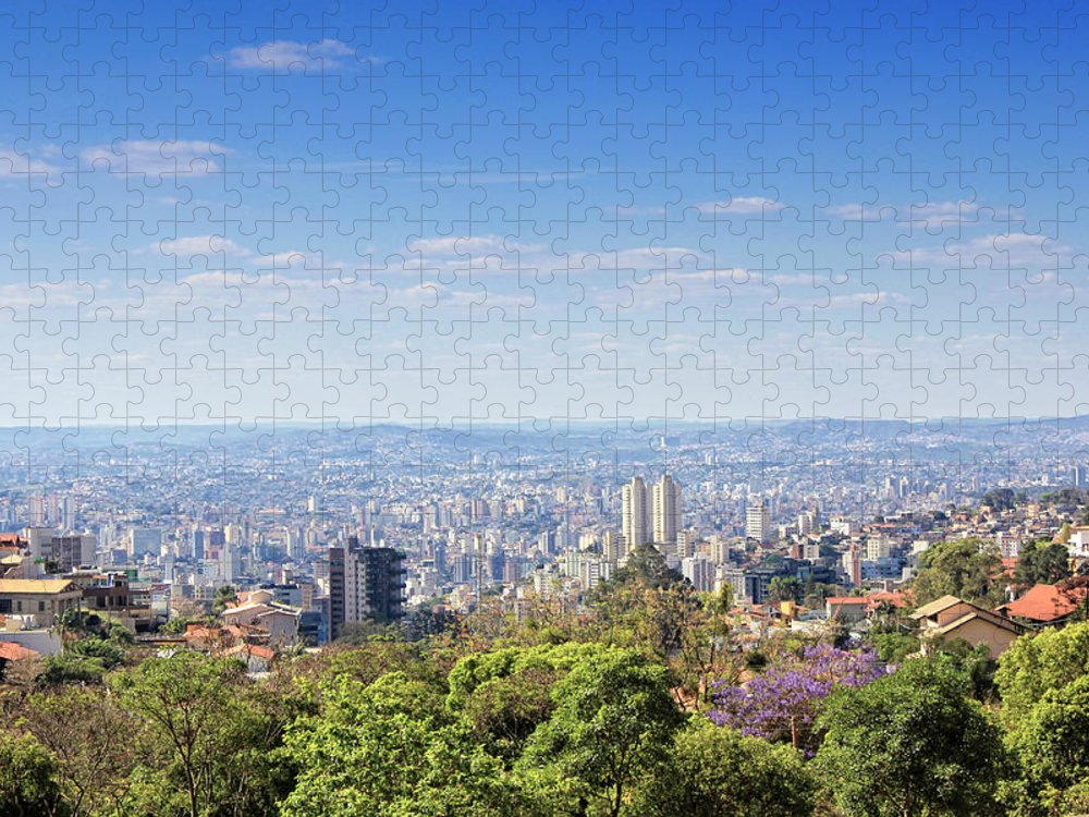 Tranquility Puzzle featuring the photograph Belo Horizonte by Antonello