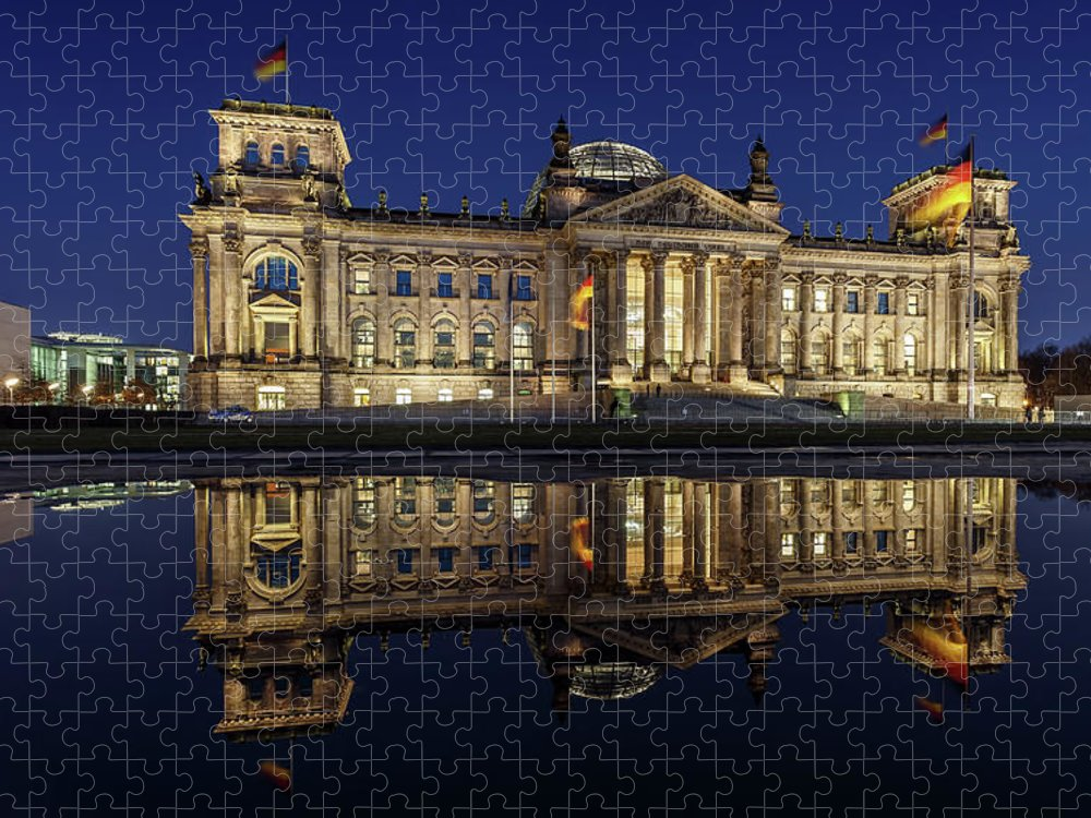 Tranquility Puzzle featuring the photograph Berlin Reichstag -- Parliament Building by Fhm