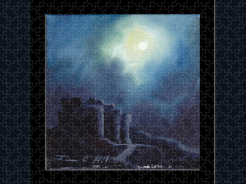 Gothic Puzzle featuring the painting Blarney Castle by James Christopher Hill