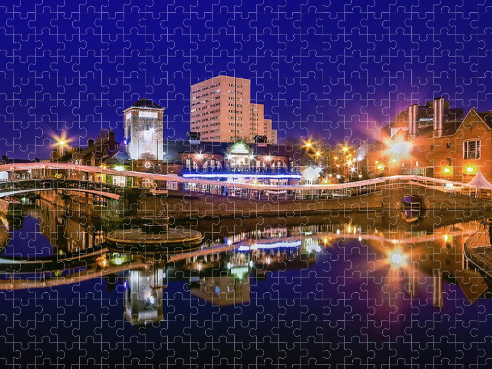 Birmingham Puzzle featuring the photograph Blue Hour In Birmingham by Fiona Mcallister Photography