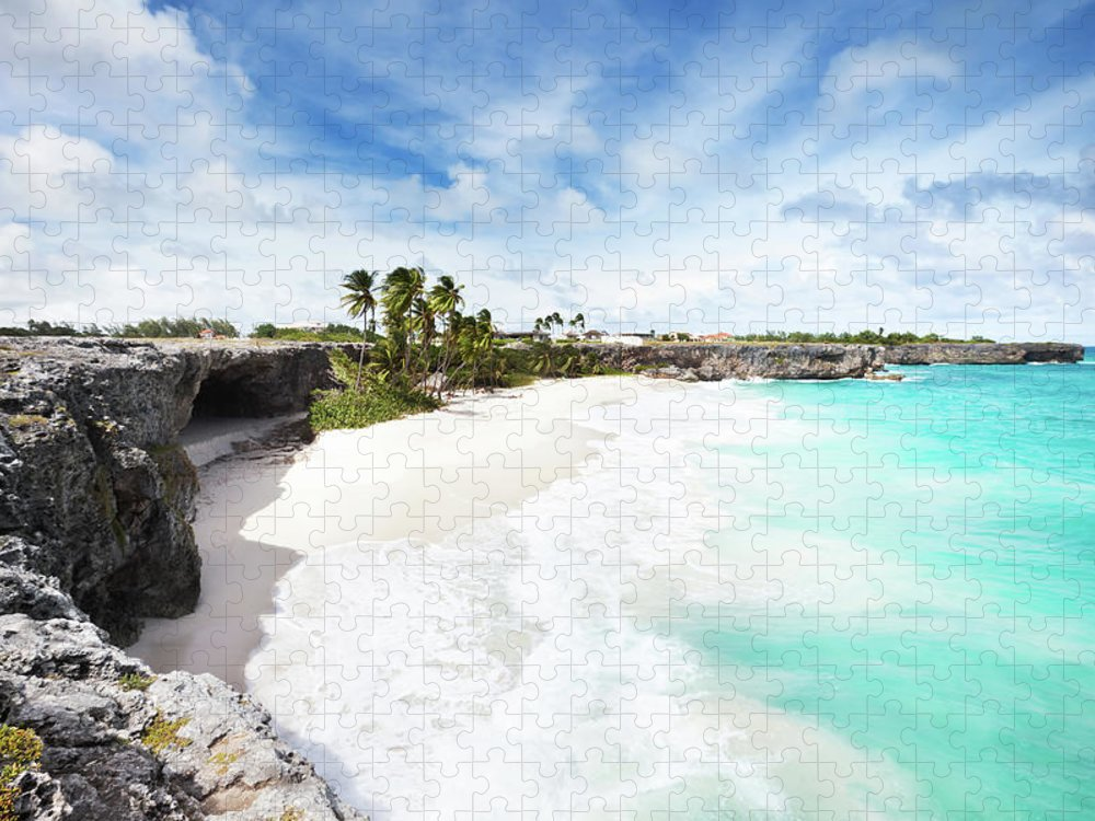 Scenics Puzzle featuring the photograph Bottom Bay, Barbados by Tomml
