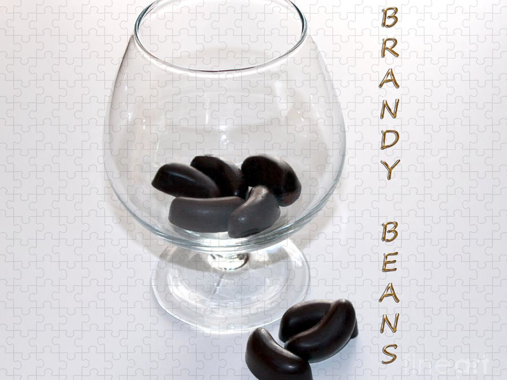 Brandy Puzzle featuring the photograph Brandy Beans - Liqueur - Chocolate by Barbara Griffin
