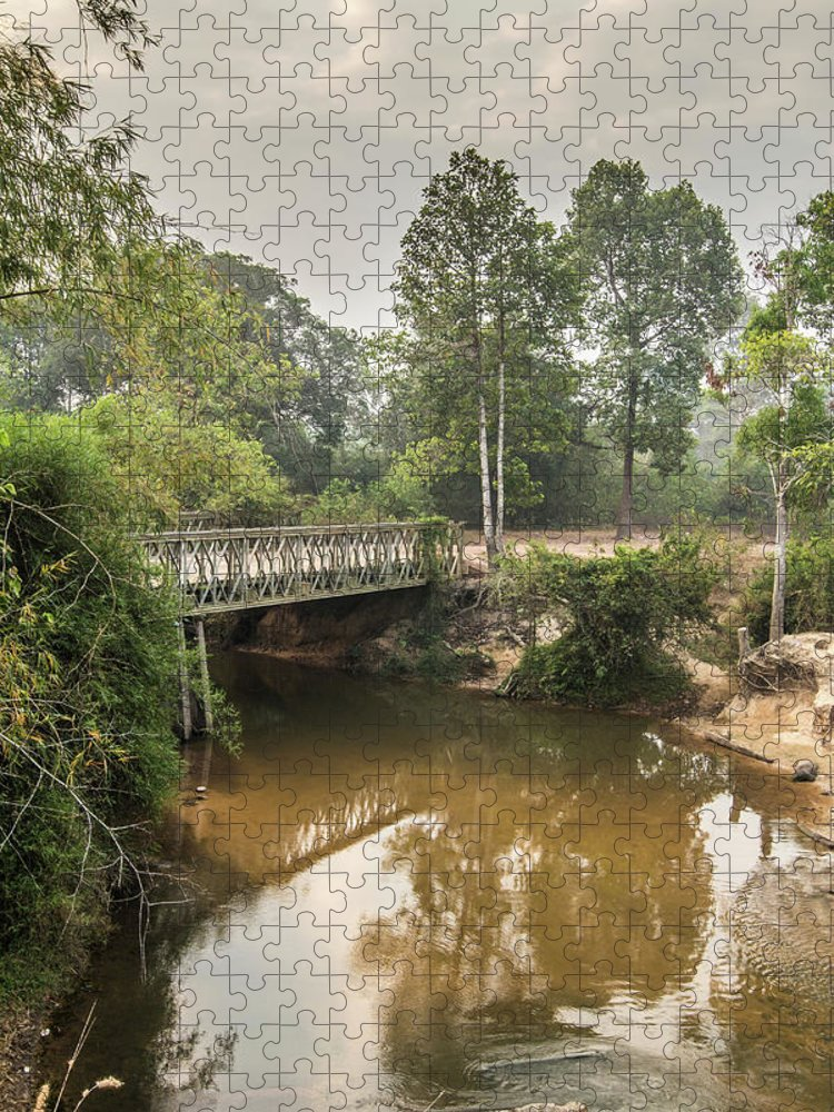 Tranquility Puzzle featuring the photograph Bridge Over Siem Reap River On The Road by Cultura Exclusive/gary Latham