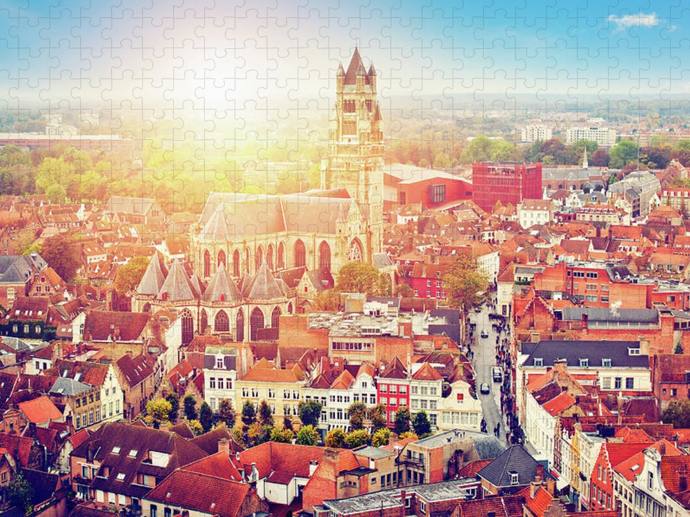 Gothic Style Puzzle featuring the photograph Bruges, Belgium by Artmarie