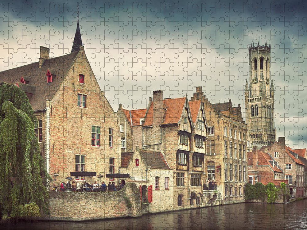 Tranquility Puzzle featuring the photograph Brugge by Ellen Van Bodegom