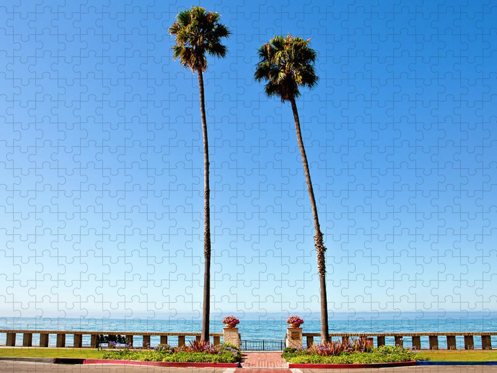 Tranquility Puzzle featuring the photograph Butterfly Beach, Santa Barbara by Geri Lavrov
