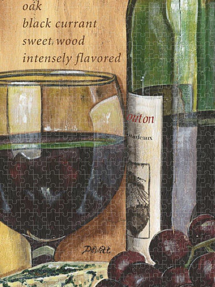 Cabernet Puzzle featuring the painting Cabernet Sauvignon by Debbie DeWitt