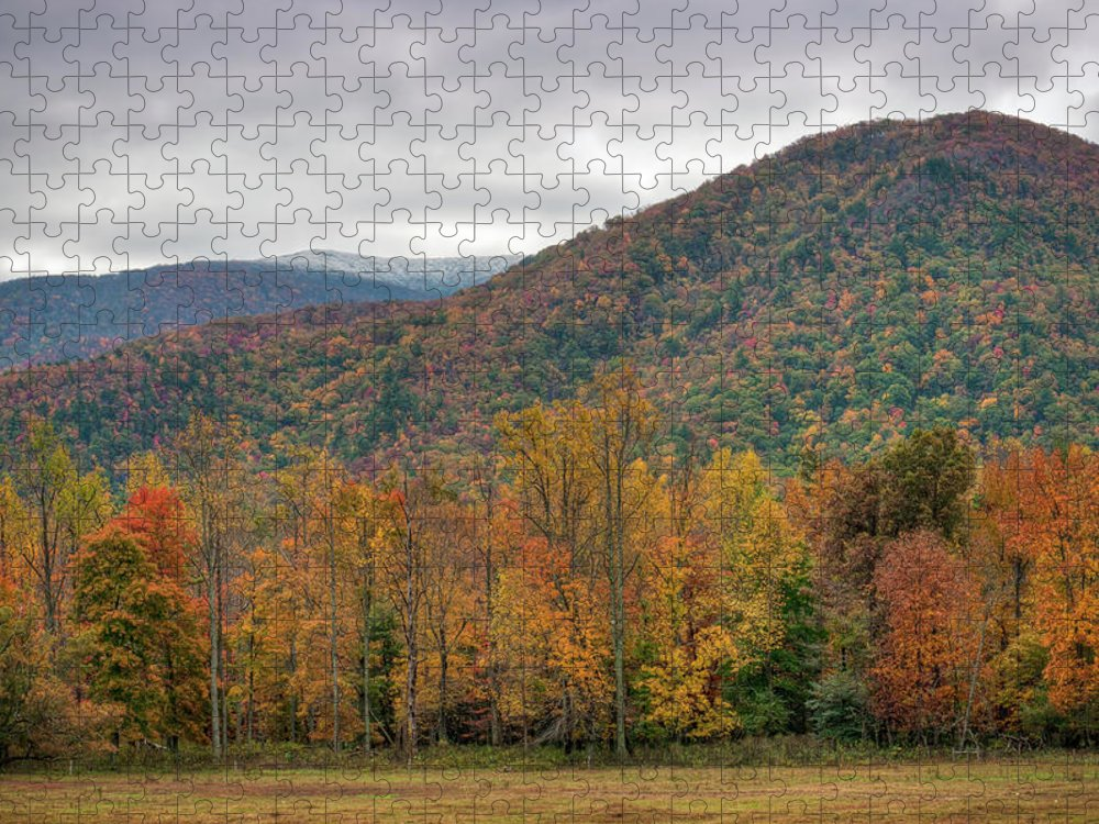 Scenics Puzzle featuring the photograph Cades Cove, Great Smoky Mountains by Fotomonkee