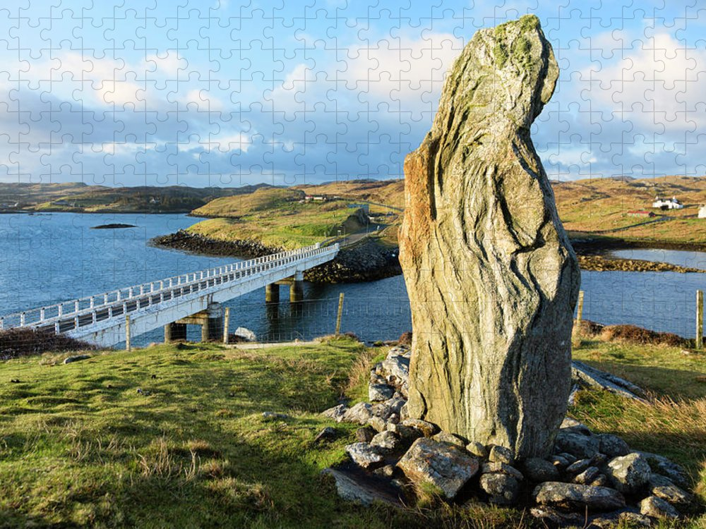 Prehistoric Era Puzzle featuring the photograph Callanish Viii Standing Stone, Isle Of by Theasis