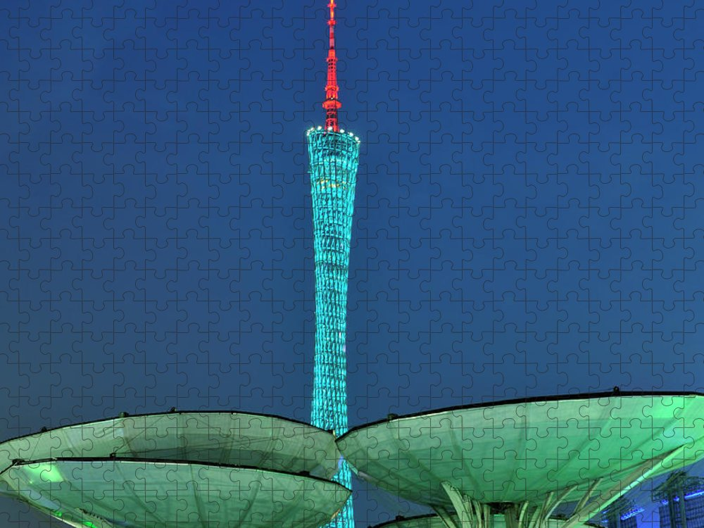 Chinese Culture Puzzle featuring the photograph Canton Tower by Huang Xin