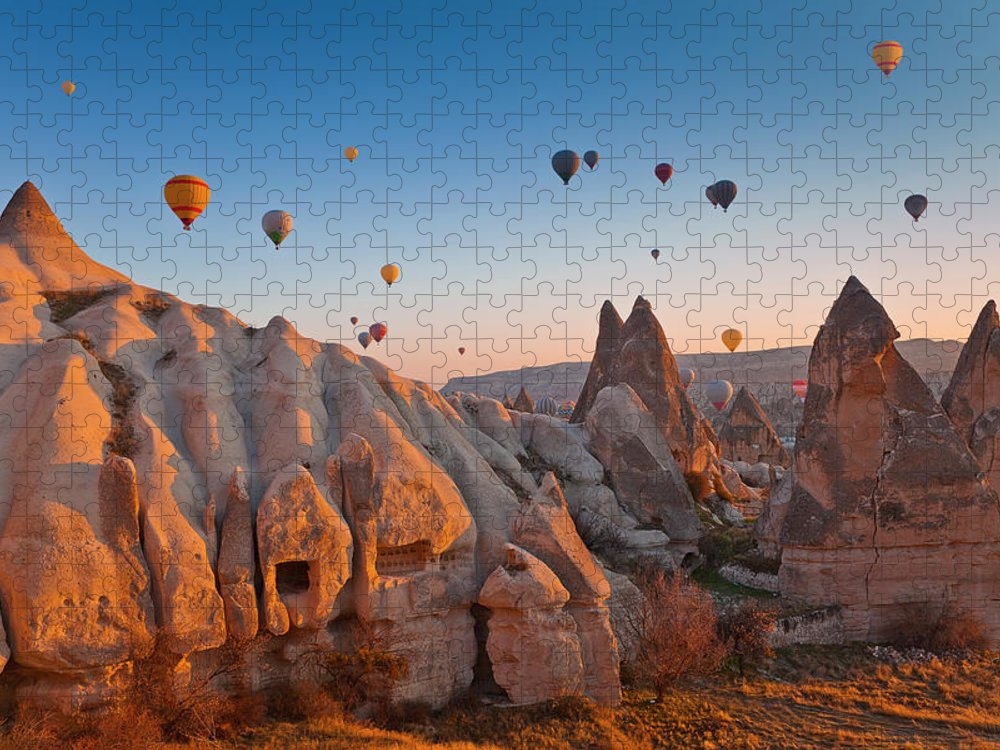 Wind Puzzle featuring the photograph Cappadocia, Turkey by Benstevens