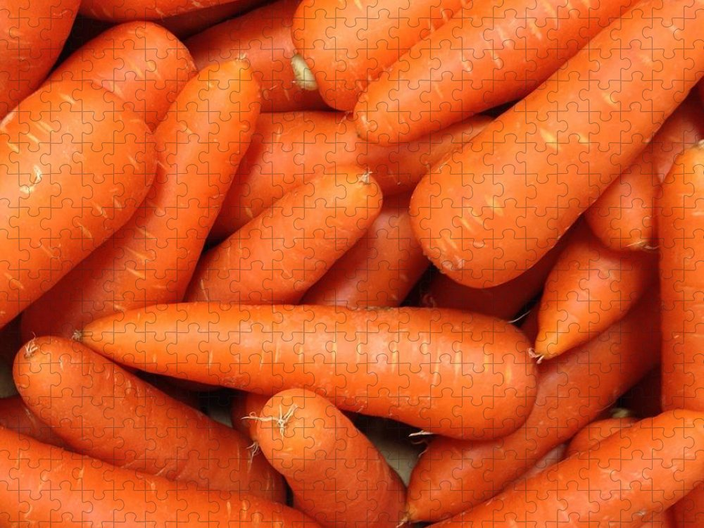 Orange Color Puzzle featuring the photograph Carrots by Digipub