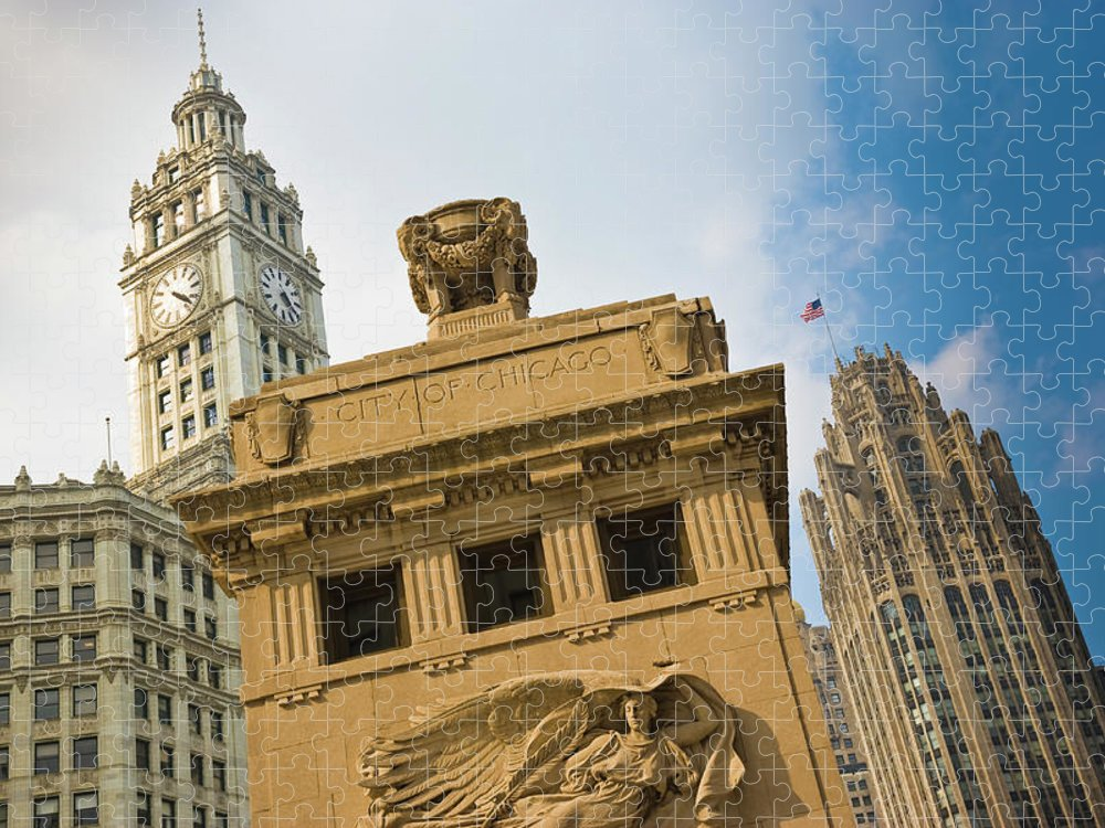 Relief Carving Puzzle featuring the photograph Chicago by Jmsilva