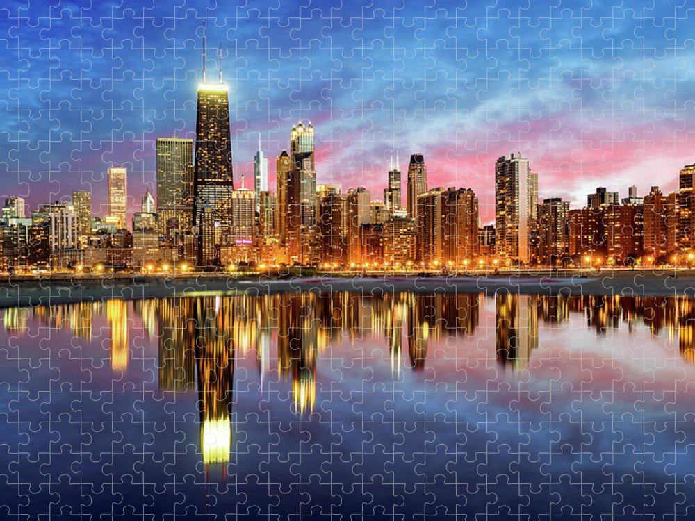 Tranquility Puzzle featuring the photograph Chicago by Joe Daniel Price