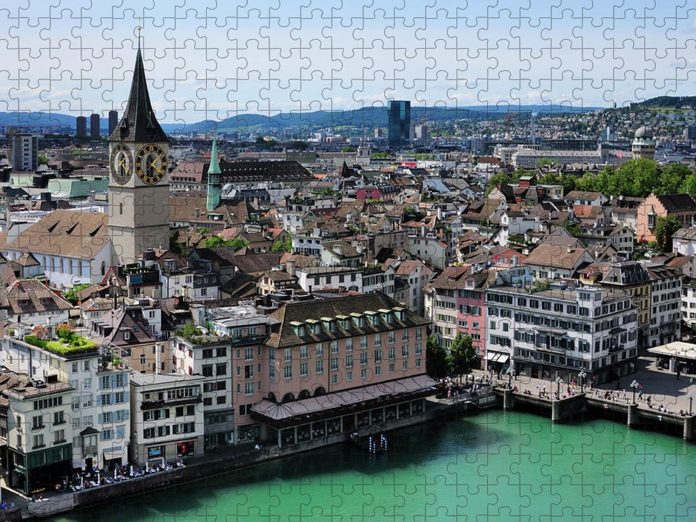 Tranquility Puzzle featuring the photograph Church Sankt Peter by Werner Büchel