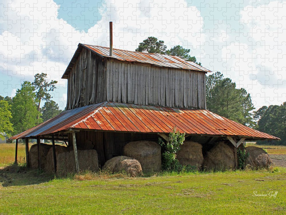 Tobacco Barn Puzzle featuring the photograph Clewis Family Tobacco Barn by Suzanne Gaff
