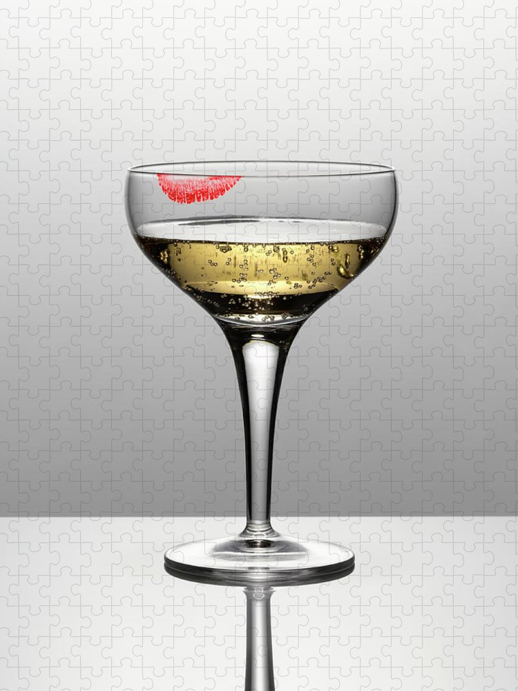 Temptation Puzzle featuring the photograph Close Up Of Champagne In Glass With by Andy Roberts