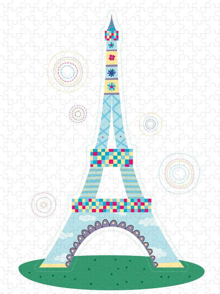Event Puzzle featuring the digital art Close-up Of Tower by Eastnine Inc.