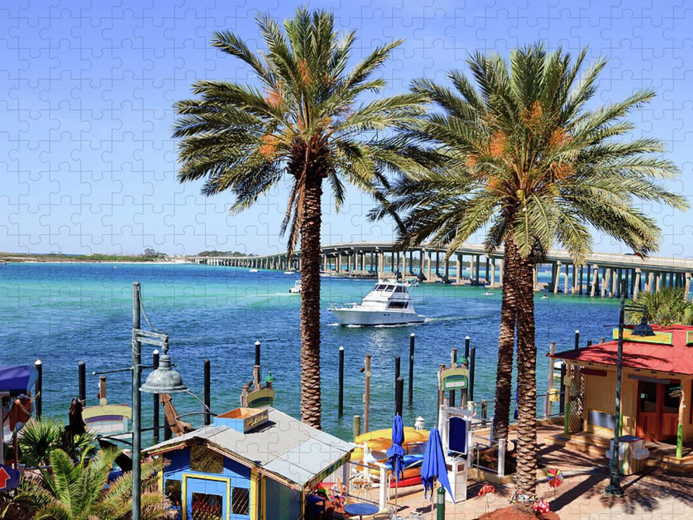 Bay Of Water Puzzle featuring the photograph Coastal Waters Around Destin Florida by Ghornephoto