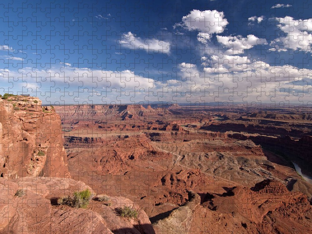 Scenics Puzzle featuring the photograph Colorado River Canyon From Dead Horse by John Elk