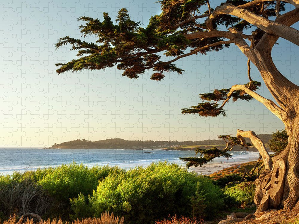 Scenics Puzzle featuring the photograph Colorful Beachfront In Carmel-by-the-sea by Pgiam