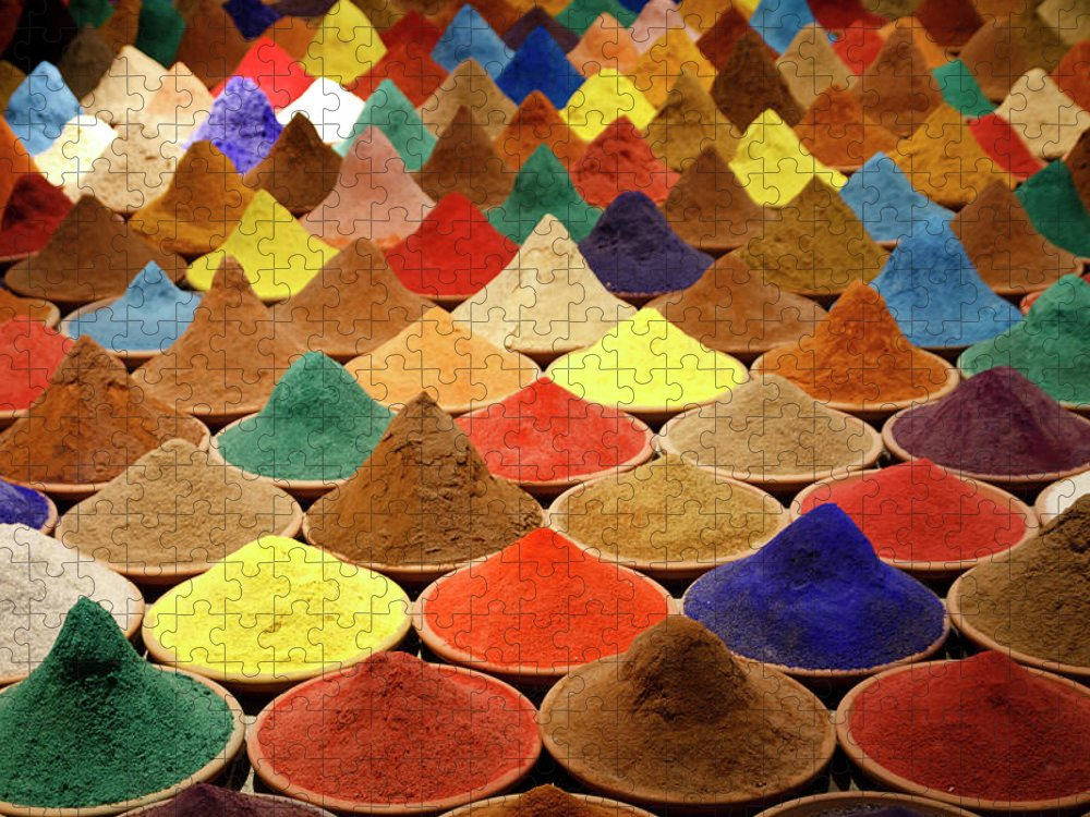 Heap Puzzle featuring the photograph Colorful Spices by Gabriele Kahal - Www.flickr.com/photos/gabrielekahal
