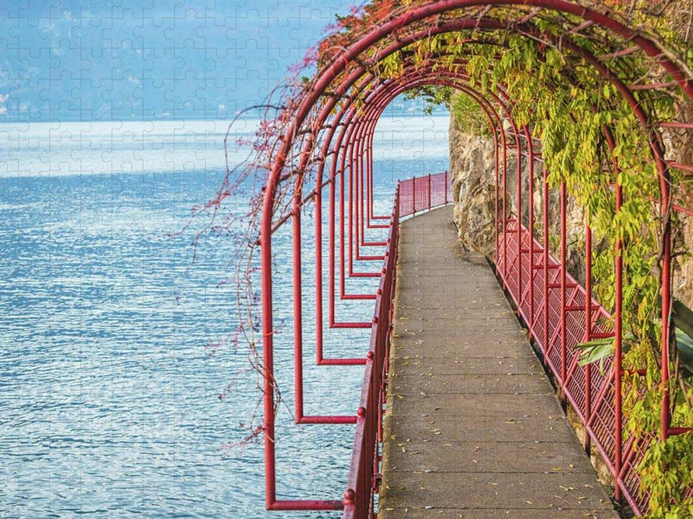 Non-urban Scene Puzzle featuring the photograph Como District Lake, Varenna by Deimagine