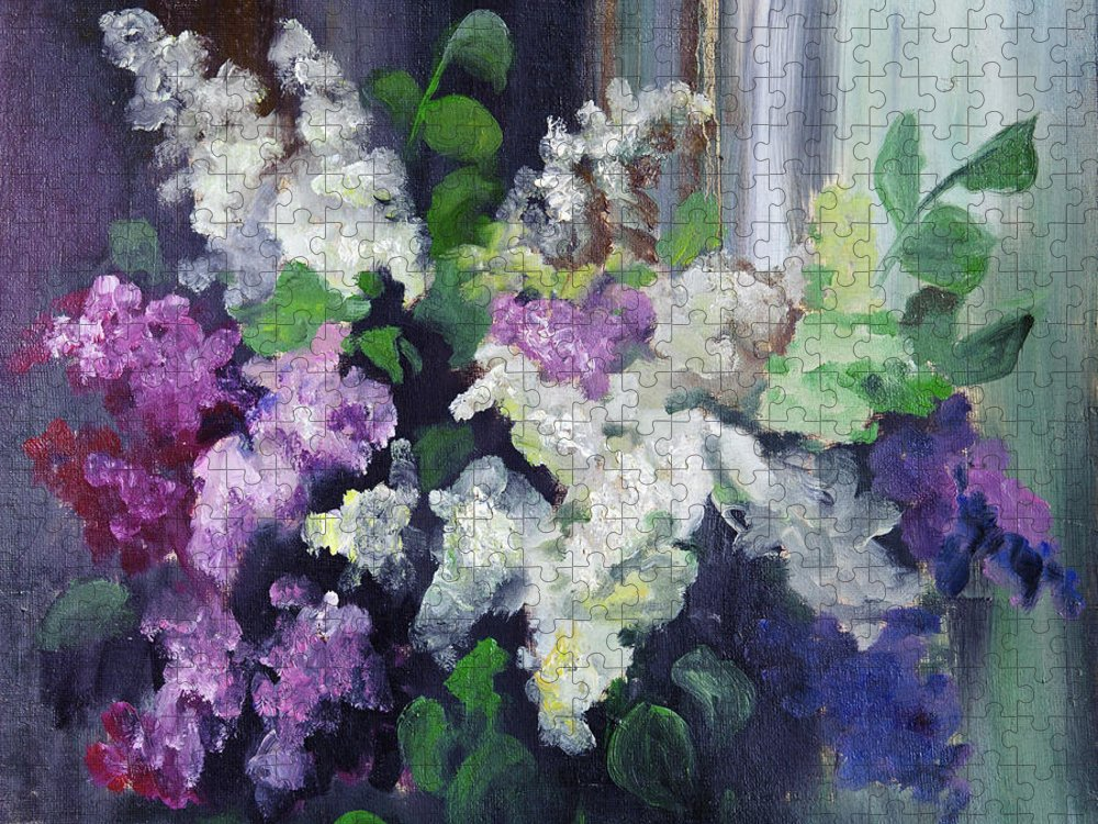 Art Puzzle featuring the digital art Composition Of Lilac by Balticboy