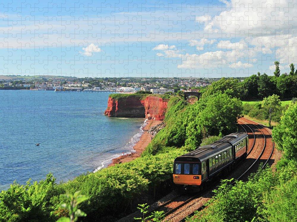 Passenger Train Puzzle featuring the photograph Devon Train by Maxian