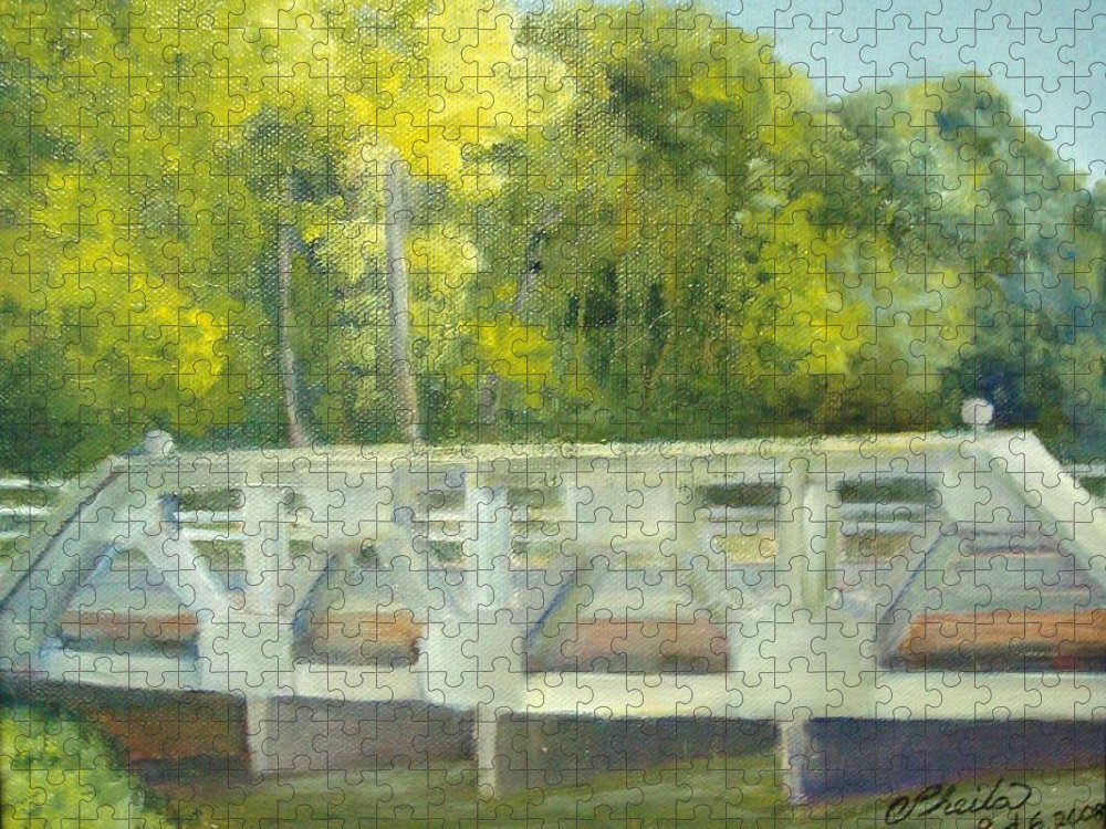 Smithville Park Puzzle featuring the painting Do You Paint Fish? by Sheila Mashaw