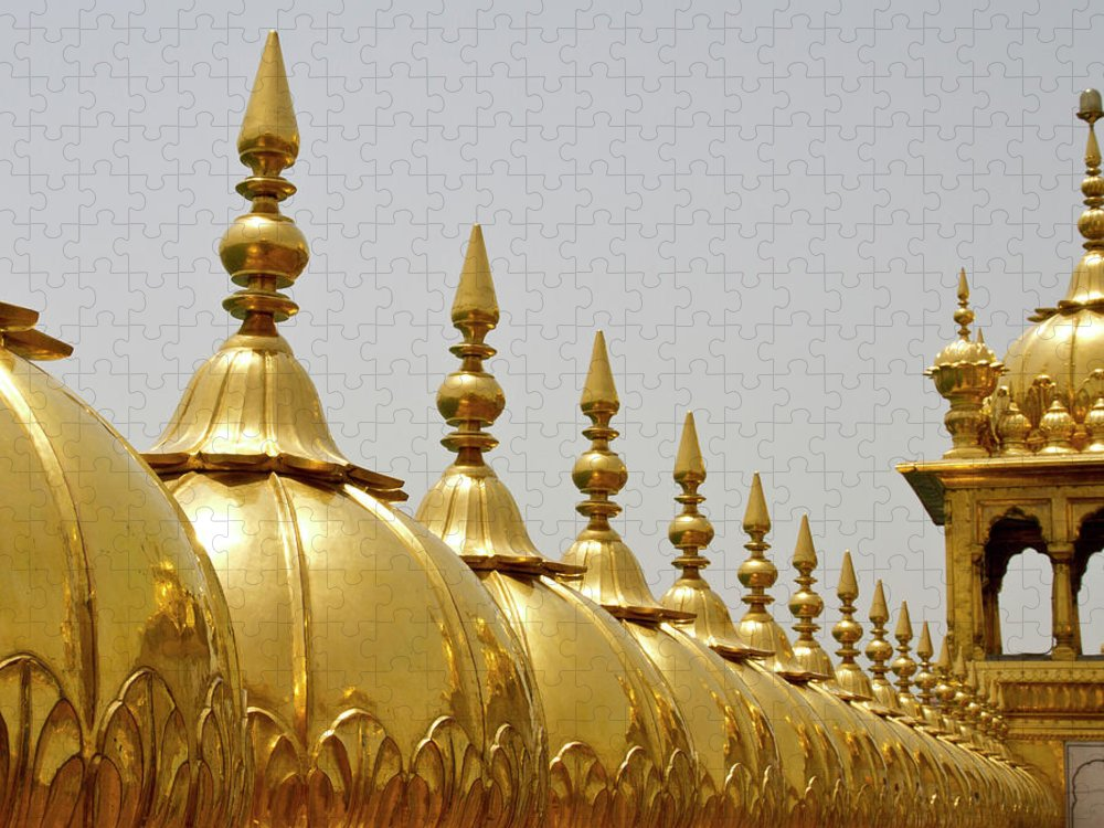 Tranquility Puzzle featuring the photograph Domes At Golden Temple by *swatikulkarni*