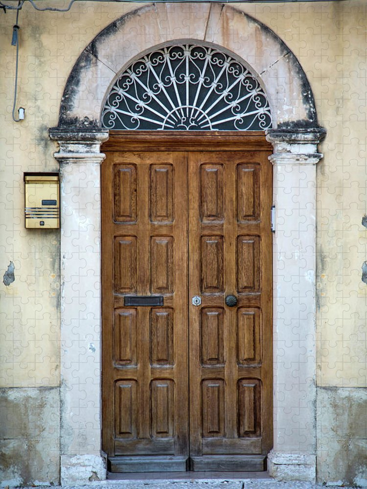 Handle Puzzle featuring the photograph Door From Sicily by Boggy22