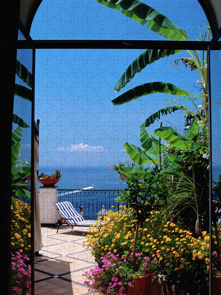 Tranquility Puzzle featuring the photograph Doorway To Terrace At Hotel Punta by Dallas Stribley