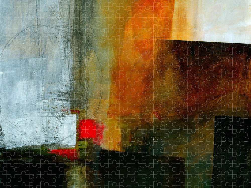 Acrylic Puzzle featuring the painting Edge Location 3 by Jane Davies