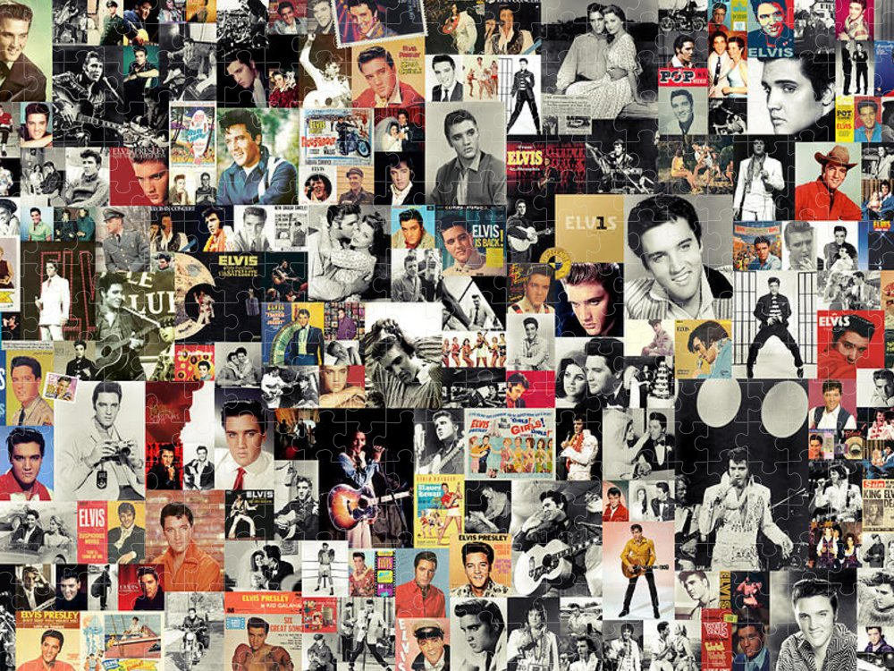 Elvis Presley Puzzle featuring the digital art Elvis The King by Zapista OU