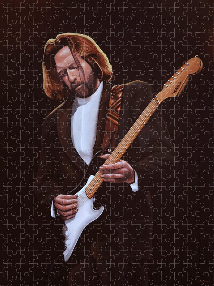 Eric Clapton Puzzle featuring the painting Eric Clapton Painting by Paul Meijering