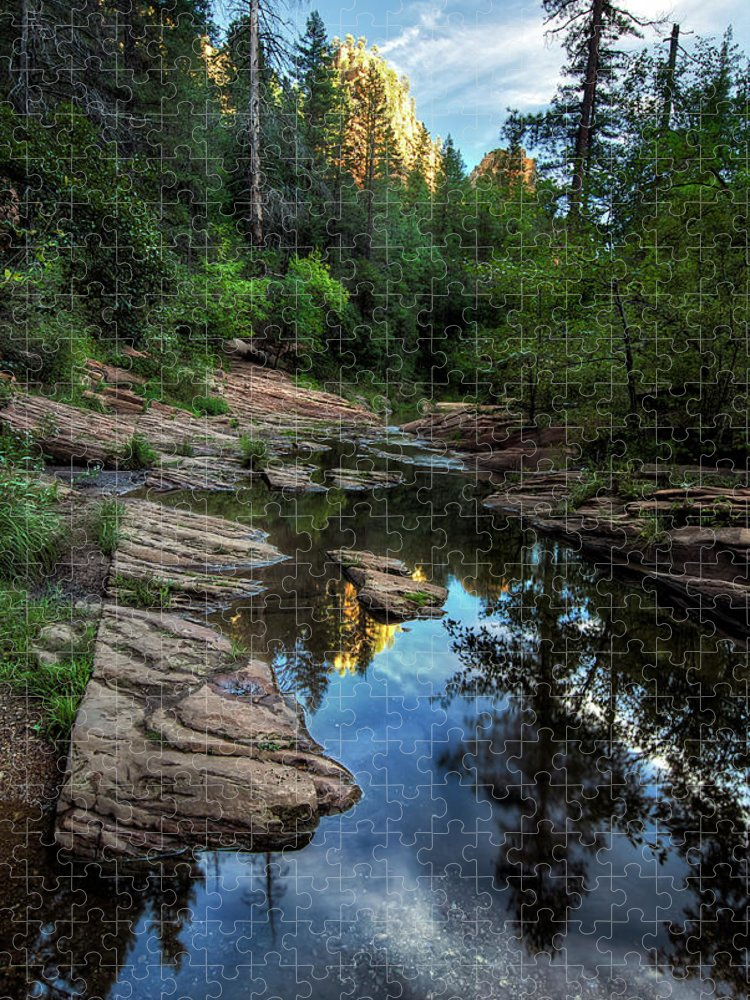 Tranquility Puzzle featuring the photograph Fall Is Right Around The Corner In by Image By Sean Foster