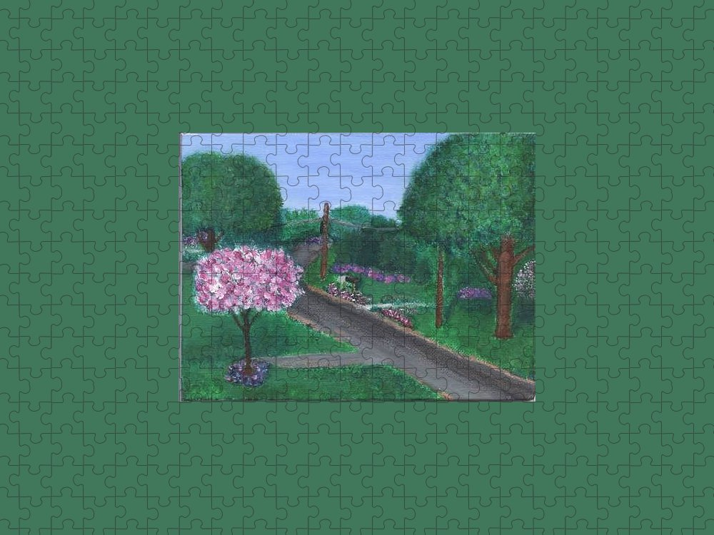 Plein Aire Puzzle featuring the painting Fellowship by Sheila Mashaw
