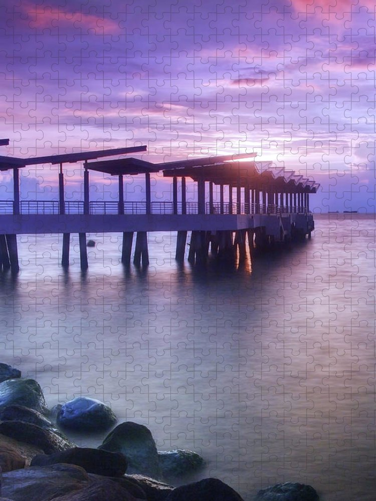 Scenics Puzzle featuring the photograph Ferry Station by Melv Pulayan