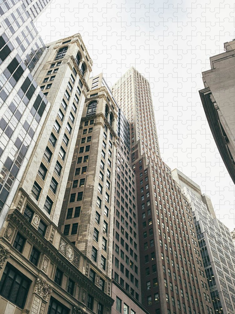 Tranquility Puzzle featuring the photograph Financial District, New York City by Tuan Tran