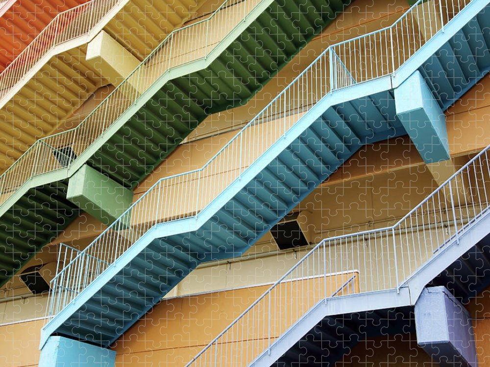Steps Puzzle featuring the photograph Fire Escape Stairs by Akiyoko