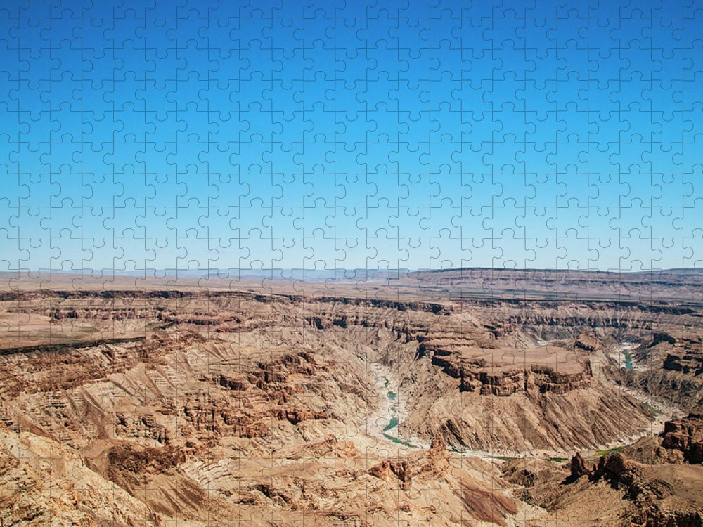 Extreme Terrain Puzzle featuring the photograph Fish River Canyon, Namibia by Shaun