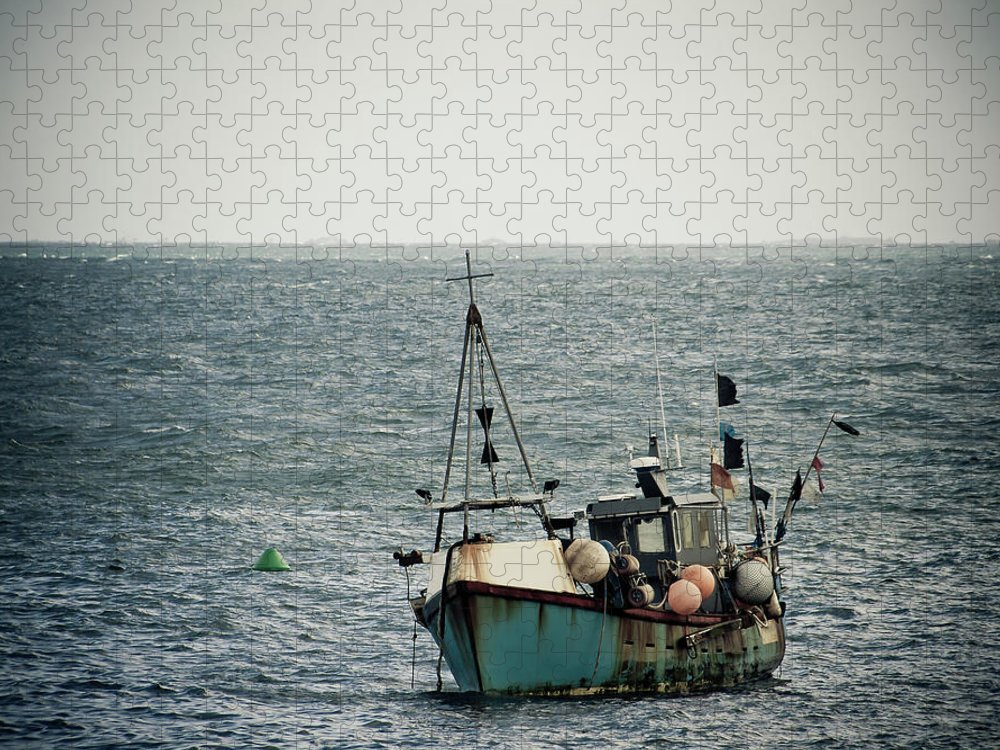 English Channel Puzzle featuring the photograph Fishing Boat by Vfka
