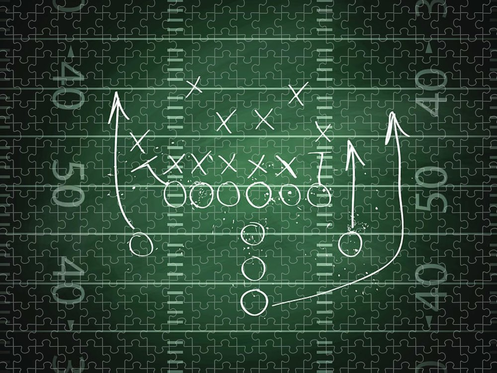 Plan Puzzle featuring the digital art Football Play by Traffic analyzer
