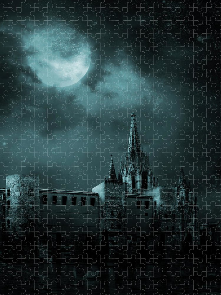 Gothic Style Puzzle featuring the photograph Ghosts In The Empty Town by Vladgans