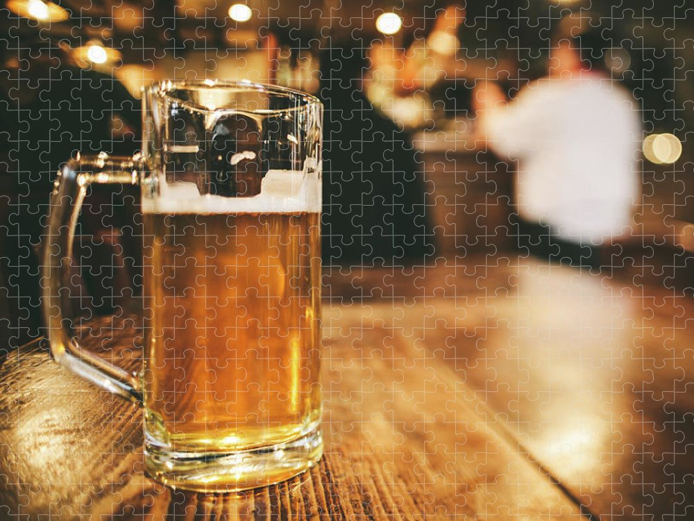 Alcohol Puzzle featuring the photograph Glass Of Bier, Brewery In Germany by Moreiso