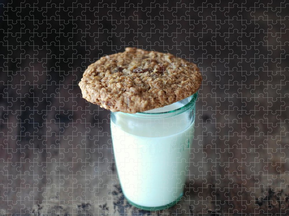 Milk Puzzle featuring the photograph Glass Of Milk by Shawna Lemay