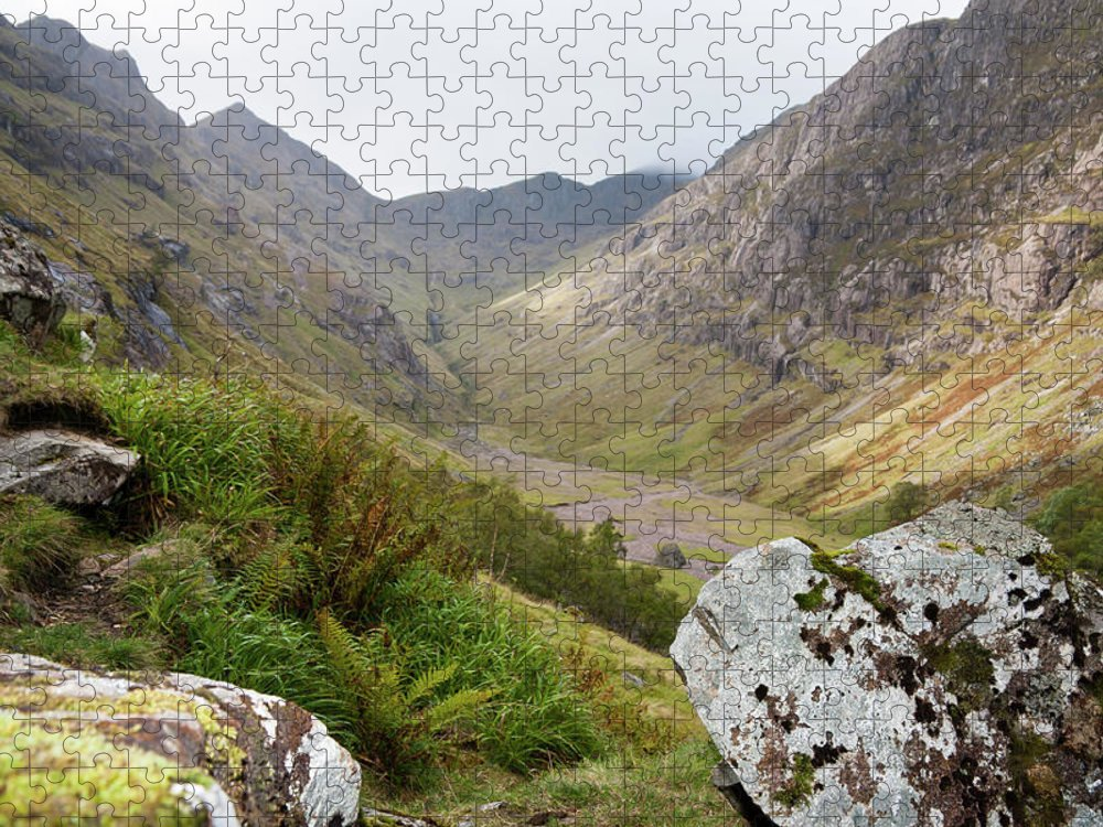 Scotland Puzzle featuring the photograph Glen Coe In The Highlands Of Scotland by Nailzchap