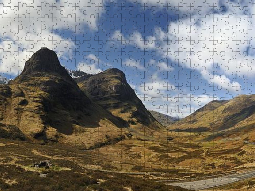 Three Sisters Of Glen Coe Puzzle featuring the photograph Glencoe by Alasdairjames